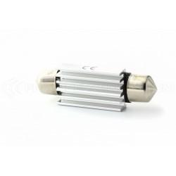 2 x Lampade Led a Siluro Canbus C10W  - 42 mm 4 SMD Luci  targa con dissipatore - No Errore