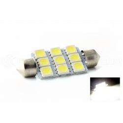 1 x AMPOULE 9 LEDS SMD - Navette C10W 42mm