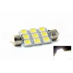 1 x birne 9 LEDS SMD - shuttle C10W 42mm