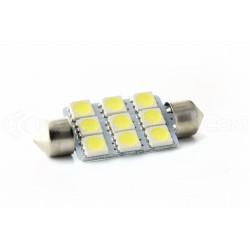 1 x Glühlampe 9 LEDs smd - Shuttle C10W 42mm