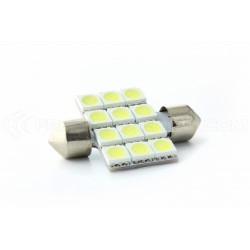 1 x AMPOULE 12 LEDS SMD - Navette C10W 42mm