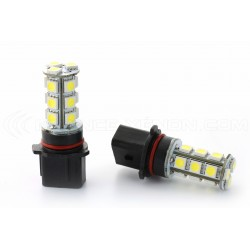 2 x 18 LED SMD Bulbs - P13W - White