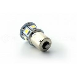 Ampoule 8 LED SMD - R5W / P21W / BA15S - Blanc