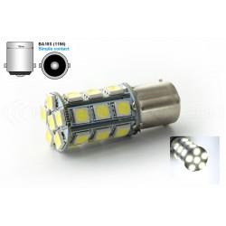 Ampoule 24 LED SMD -  P21W / BA15S / T25 - Blanc