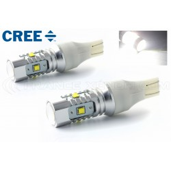2 x Ampoules 5 LEDS CREE - LED CREE - T15 W16W