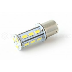 Ampoule 21 LED SMD - BA15S / P21W / 1156 / T25 - Blanc