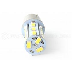 Bombilla 21 LED SMD - BA15S / P21W / 1156 / T25 - bianco