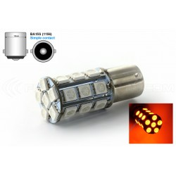 Bombilla 24 LED SMD NARANJA - BA15S / P21W / 1156 / T25 - Orange