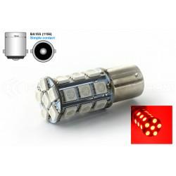 Bombilla 24 LED SMD ROJO - BA15S / P21W / 1156 / T25 - Rojo