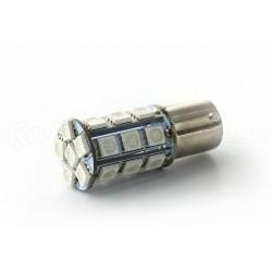 Ampoule 24 LED SMD ROUGE - BA15S / P21W / 1156 / T25 - Rouge