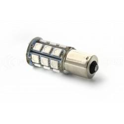 Lampadina 24 LED SMD ROSSO - BA15S / P21W / 1156 / T25 - Ross