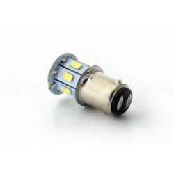 2 x Ampoules 13 LED SMD - BA15S / P21W / 1156 / T25 - Blanc