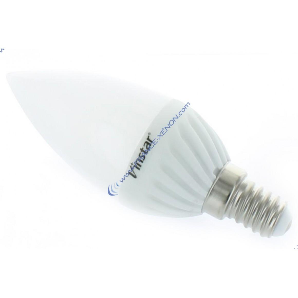 ampoule e14 3w led cree 45w vinstar c ramique blanc froid france xenon. Black Bedroom Furniture Sets. Home Design Ideas