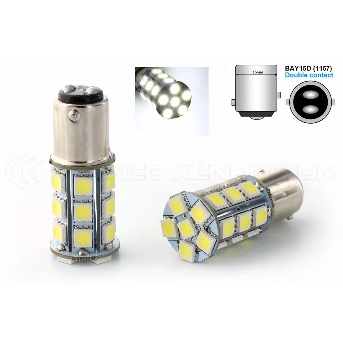 2 x 24 LED bulbs SMD - p21 / 5w - White
