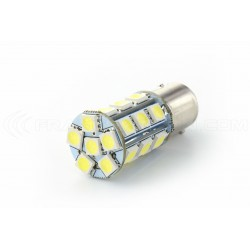2 x Ampoules 24 LED SMD ROUGE - P21/5W / 1157 / BAY15D - Rouge