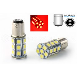 2 x 24 LED-Lampen smd rot - p21 / 5W / 1157 / BAY15D - Rot