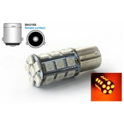 2 x 24 LED bulbs PY21W smd orange BAU15S