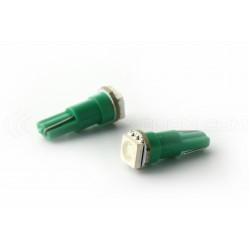 2 x Lampe 1 LED SMD grün - T5-W1.2W