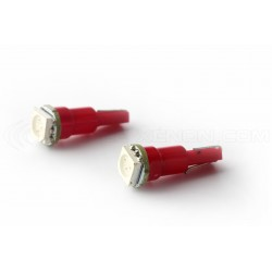 2 x Ampoules 1 LED SMD ROUGE - T5 W1.2W