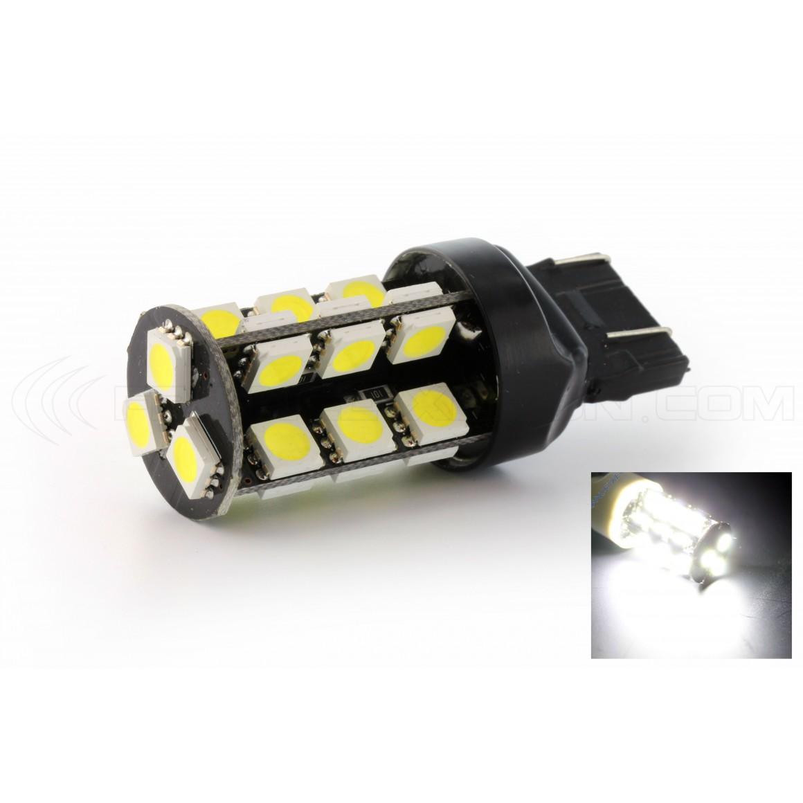 DRL Lampada Bianco Xeno 2 X Lampadine 27 LED SMD Cambus BAY15D Auto Freno