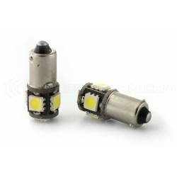 2 x 5 LED bulbs SMD canbus - white - 5 Led T4W BA9S