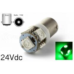 2 x AMPOULES 5 LED SMD - BLANC - 5 led- T4W BA9S