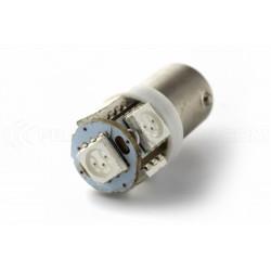 1 x 5 LED bulb green - T4W BA9S - 24v