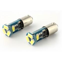 2 x AMPOULES 5 LEDS (5730) CANBUS SAMSUNG T4W BA9S