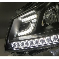 DECTANE DRL look headlight Mercedes Benz SLK R171 04-11_black
