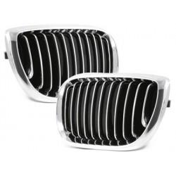 2x Gitter Plan BMW e46 lim./touring 3 Serie 02-03_chrome