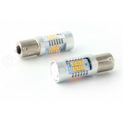 2x Bulbs 21 LED OSRAM - PY21W - Yellow