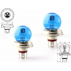 2 x r2 P45t bulbs 45 / 12V 40W super white - France-xenon