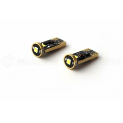 2 x W5W T10 3-LED Super Canbus Super Potenza XENLED - GOLD