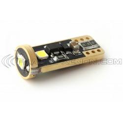 2 x W5W T10 3-LED Super Canbus Super Potenza XENLED - ORO