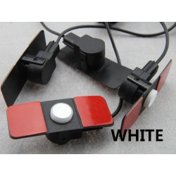 Recessed reversing radar sensors 4 white - buzzer