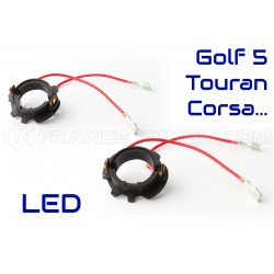 2 Adapters LED Bulbs Golf 5, TOURAN, Corsa C
