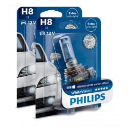 Pack 2 Lampen H8 Philips WhiteVision +60% 55W
