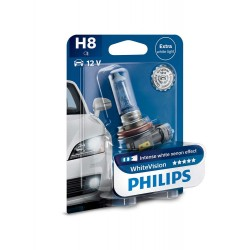 Pack 2 ampoules H8 Philips WhiteVision +60% 55W