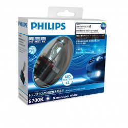 2x Ampoules H8 H11 H16 LED PHILIPS X-Treme Ultinon 2700Lm 6500K