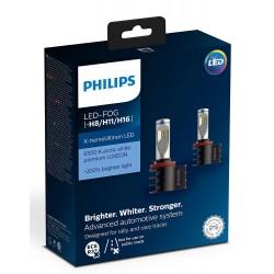2x Bulbs H8 H11 H16 LED PHILIPS X-Treme Ultinon