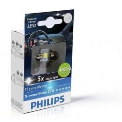 1x Festoon Philips 14x30 LED X-Treme Ultinon 4000K 12V C3W