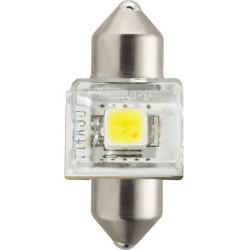 1x Festoon Philips 14x30 LED X-Treme Ultinon 6000K 12V C3W