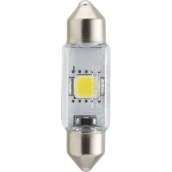 1x Festoon Philips 10.5x38 LED X-Treme Ultinon 6000K 12V C5W