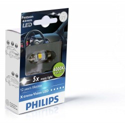 1x Festoon Philips 10.5x43 LED X-Treme Ultinon 4000K 12V C10W