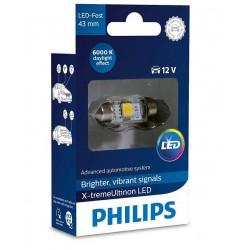 1x Festoon Philips 10.5x43 LED X-Treme Ultinon 6000K 12V C10W