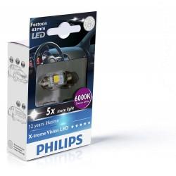1x Philips Shuttle 10.5x43 LED x-treme ultinon 6000k 12V C5W