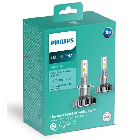 2x ampoules led h7 philips ultinon 2200lm 6200k france xenon. Black Bedroom Furniture Sets. Home Design Ideas