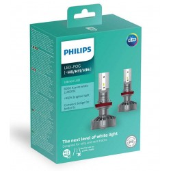 2x LED bulbs h8 h11 h16 philips ultinon 2200lm 6200k