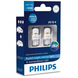 2x Lampen T10 PHILIPS X-TREME ULTINION LED 4000K