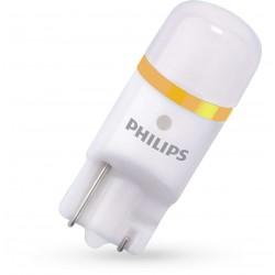 2 bulbs t10 philips x-treme ultinon vision led 4000k